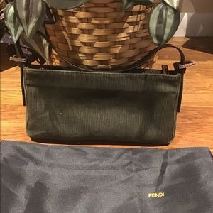 Fendi Cordorouy Army Green Baguette Handbag!!!!